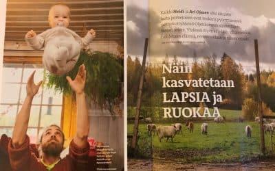 Reportaasi Oljenkorsi-yhteisöstä Lapsen Maailma -lehdessä