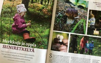 Sienestysjuttu Lapsen Maailma -lehdessä